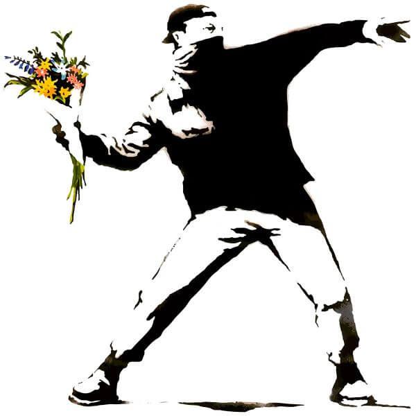 Camisa Masculina Branca - Flower Thrower 1