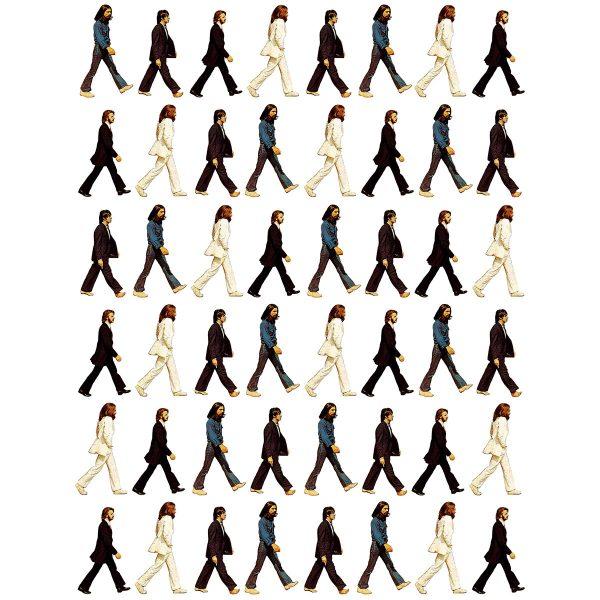 Camisa Feminina - Pattern Beatles 1