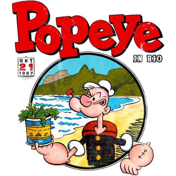 Camisa Feminina - Popeye in Rio 1