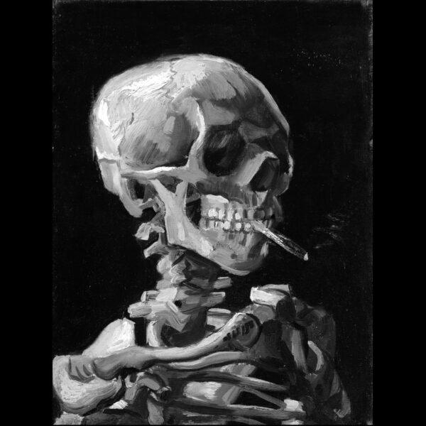 Camisa Masculina Preta - Van Gogh Skull 4