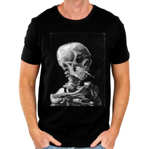 Camisa Masculina Preta - Van Gogh Skull 3