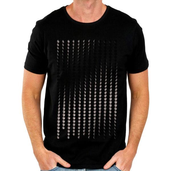 Camisa Masculina Preta - Calendário Lunar 3