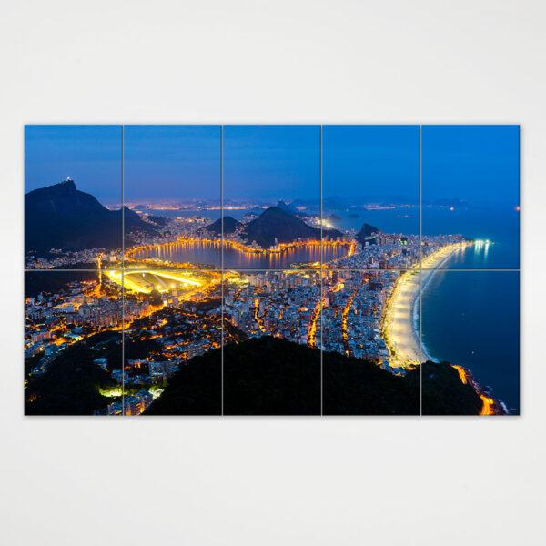 Painel Modular - Zona Sul do Rio de Janeiro Vista do Alto do Dois Irmãos 3