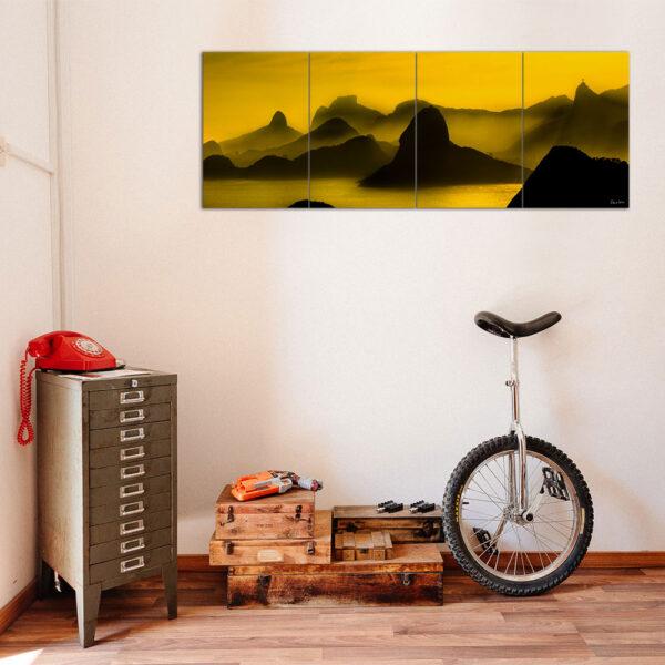 Painel Modular - O Poente na Espinha de suas Montanhas, Rio de Janeiro 1