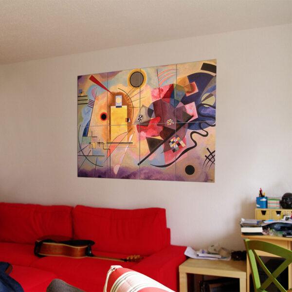 Painel Modular - Amarelo - Vermelho - Azul 4