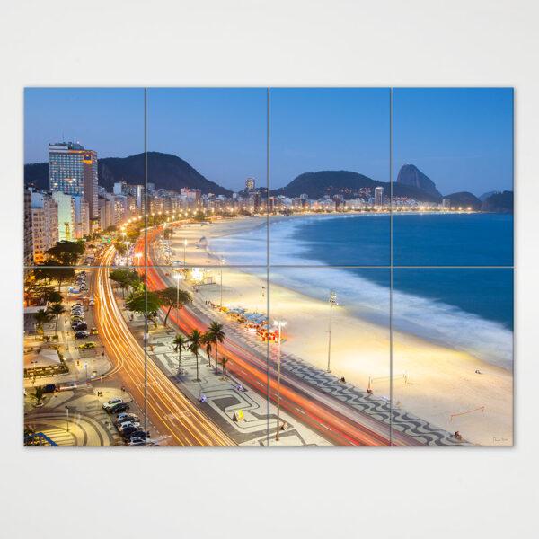 Painel Modular - Entardecer em Copacabana com Pão de Açúcar ao fundo 3
