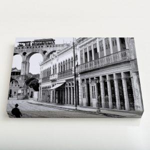 Quadro Canvas – Rua do Riachuelo com Arcos da Lapa – Ano 1912