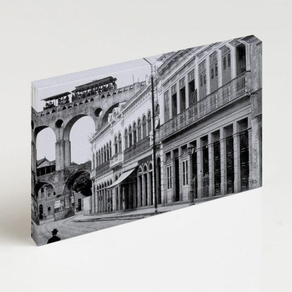 Quadro Canvas - Rua do Riachuelo com Arcos da Lapa - Ano 1912 2