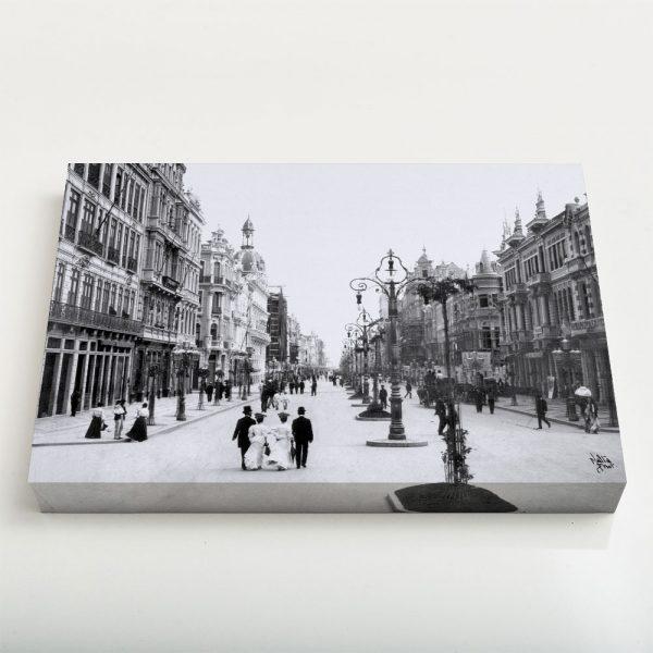 Quadro Canvas - Avenida Central - Ano 1905 1