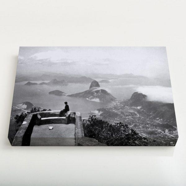 Quadro Canvas - Vista do Corcovado - Ano 1910 1
