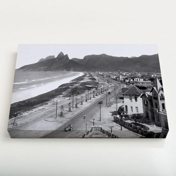 Quadro Canvas - Praias de Ipanema e Leblon - Ano 1929 1