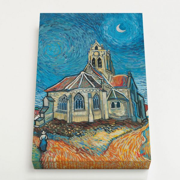 Quadro Canvas - A Igreja em Auvers 4