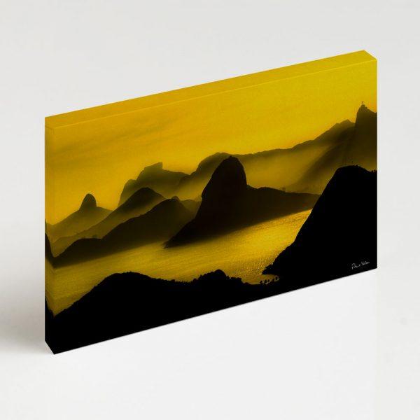 Quadro Canvas - O Poente na Espinha de suas Montanhas, Rio de Janeiro 2