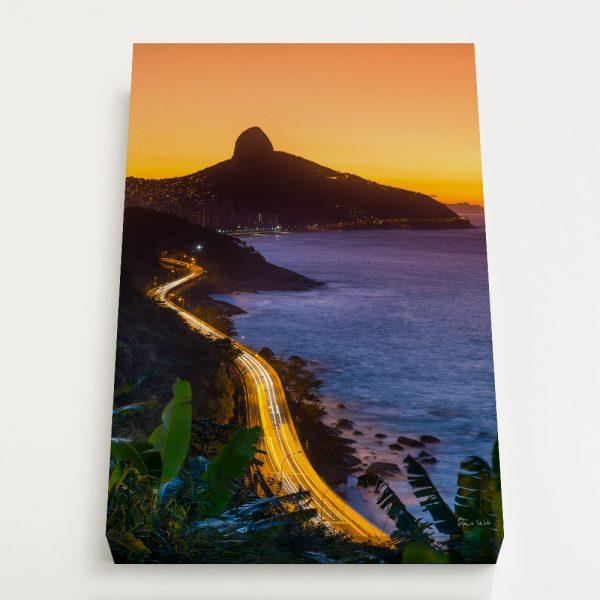 Quadro Canvas - Avenida Niemeyer e Morro Dois Irmãos 1