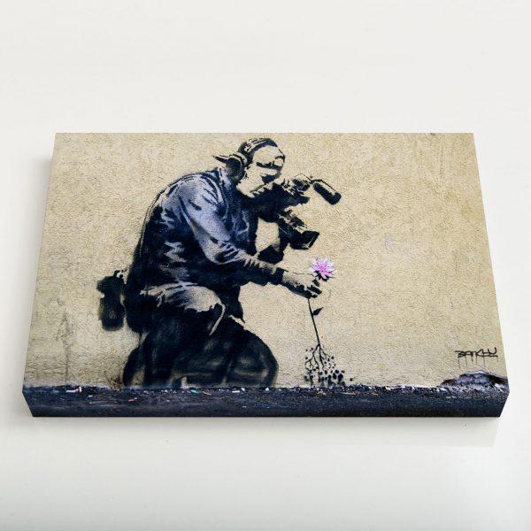 Quadro Canvas - Cameraman Flower 1