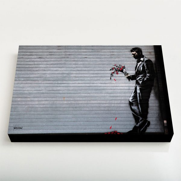 Quadro Canvas - Man with Wilted Flowers 1