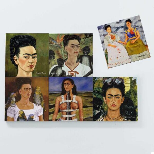 Porta Copos Magnéticos - Frida Autorretrato 3