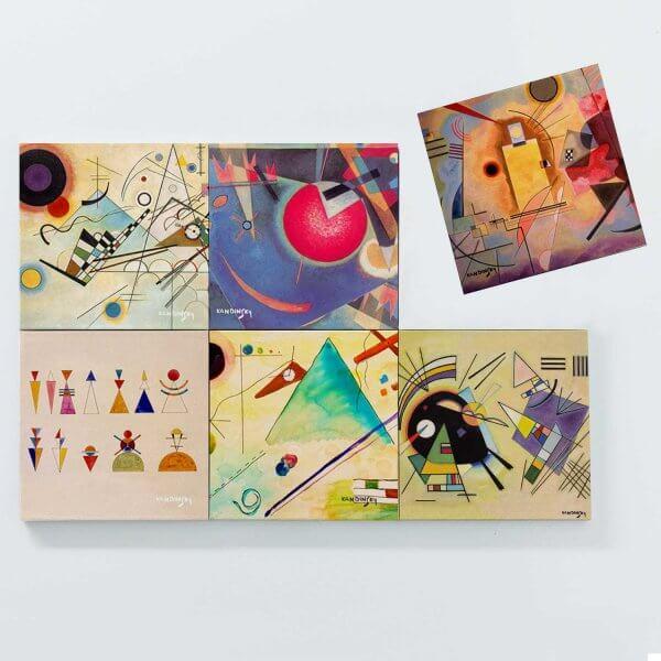 Porta Copos Magnéticos - Wassily Kandinsky 3