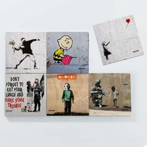 Porta Copos Magnéticos – Banksy