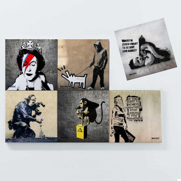Porta Copos Magnéticos - Banksy 2 3