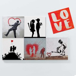 Porta Copos Magnéticos – Banksy Love