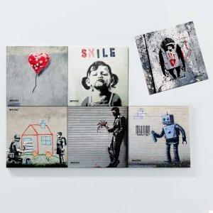 Porta Copos Magnéticos – Banksy 3