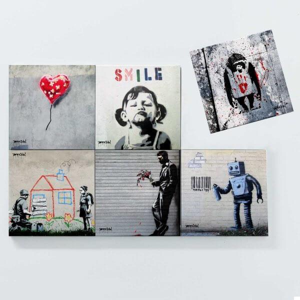 Porta Copos Magnéticos - Banksy 3 3