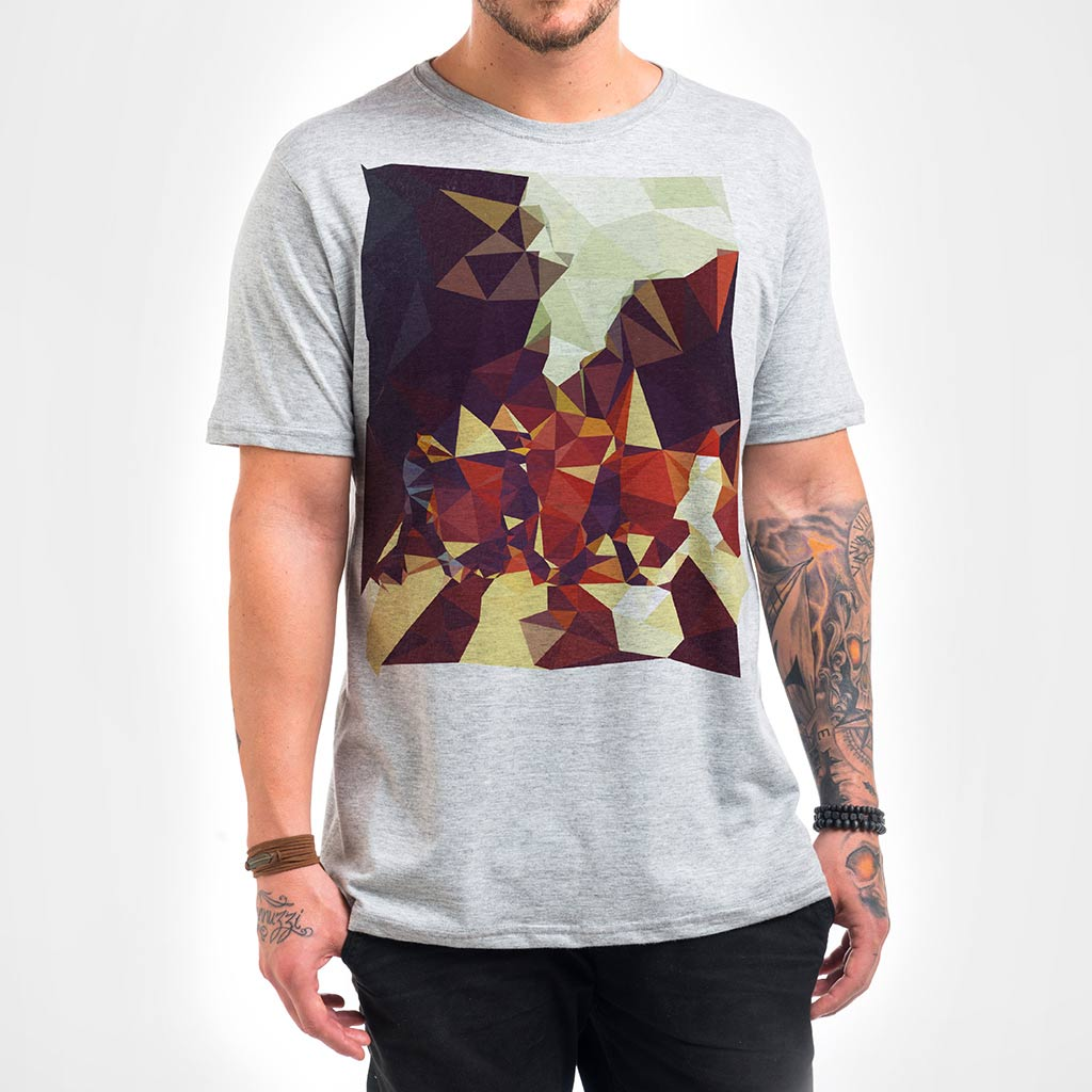 Camisa Masculina - Geometric Abbey Road