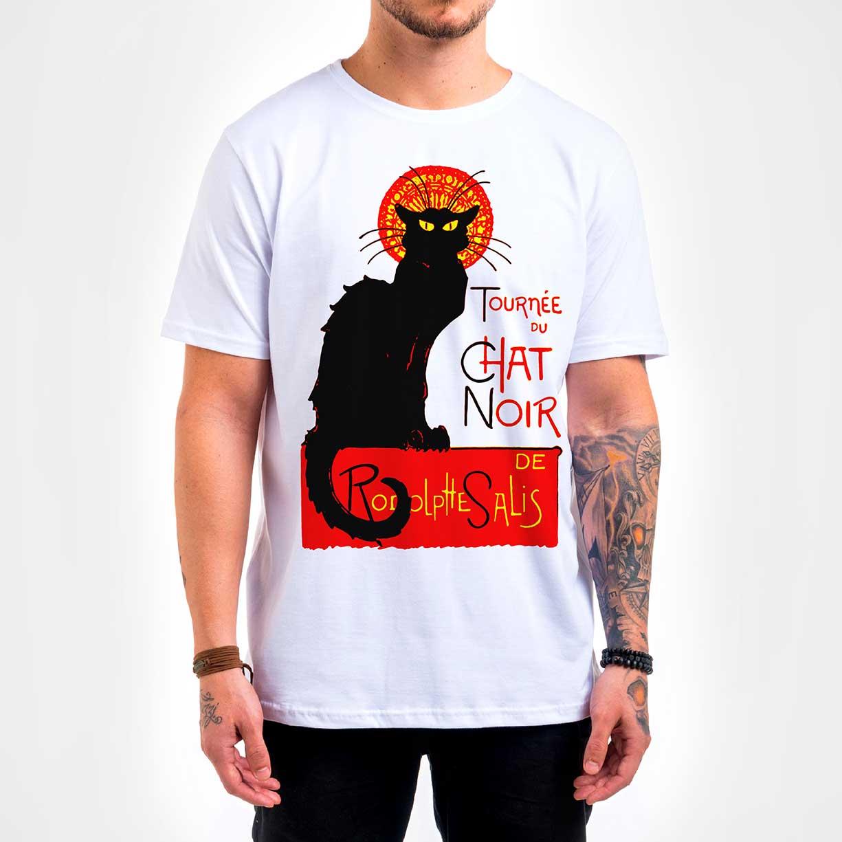 Camisa Masculina - Chat Noir