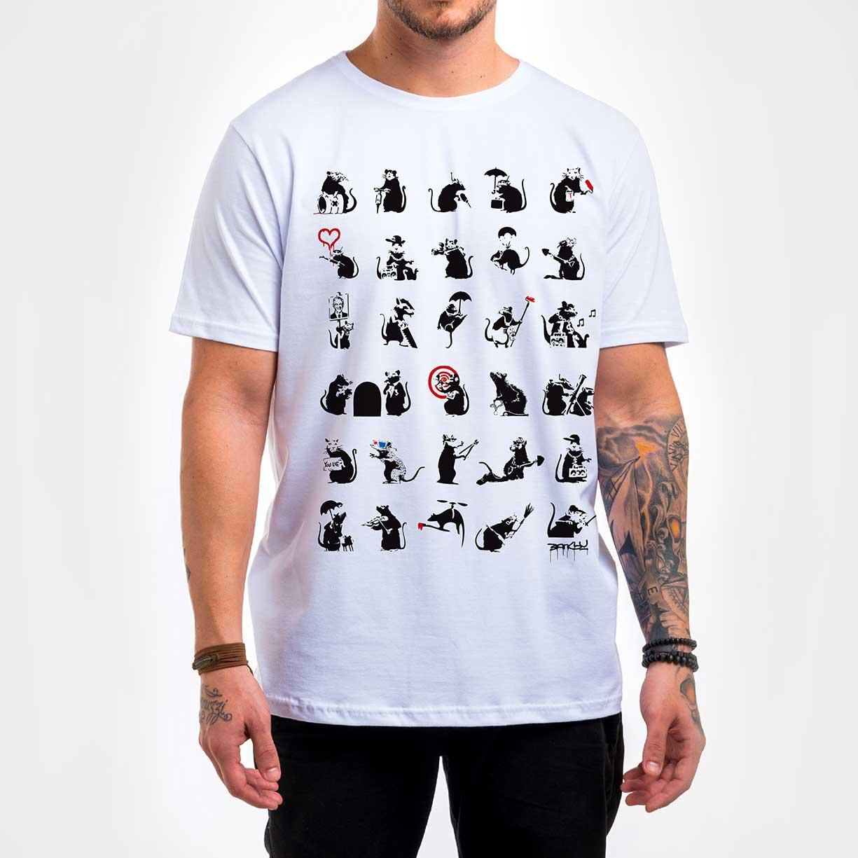 Camisa Masculina - Pattern Rats