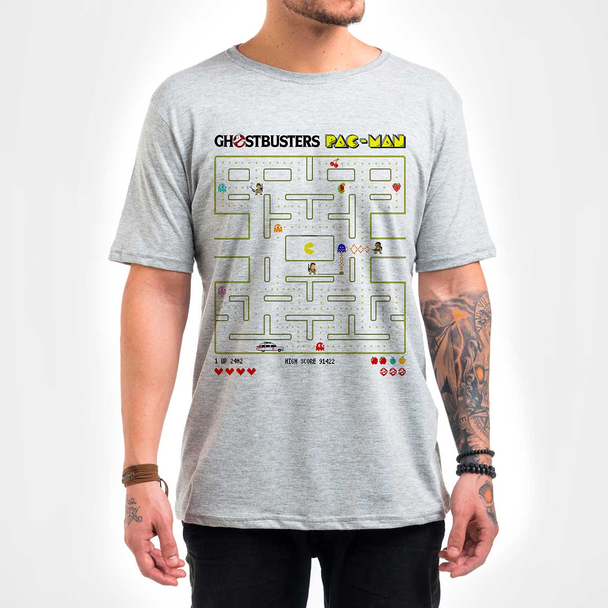 Camisa Masculina - Ghostbuster Pac-Man