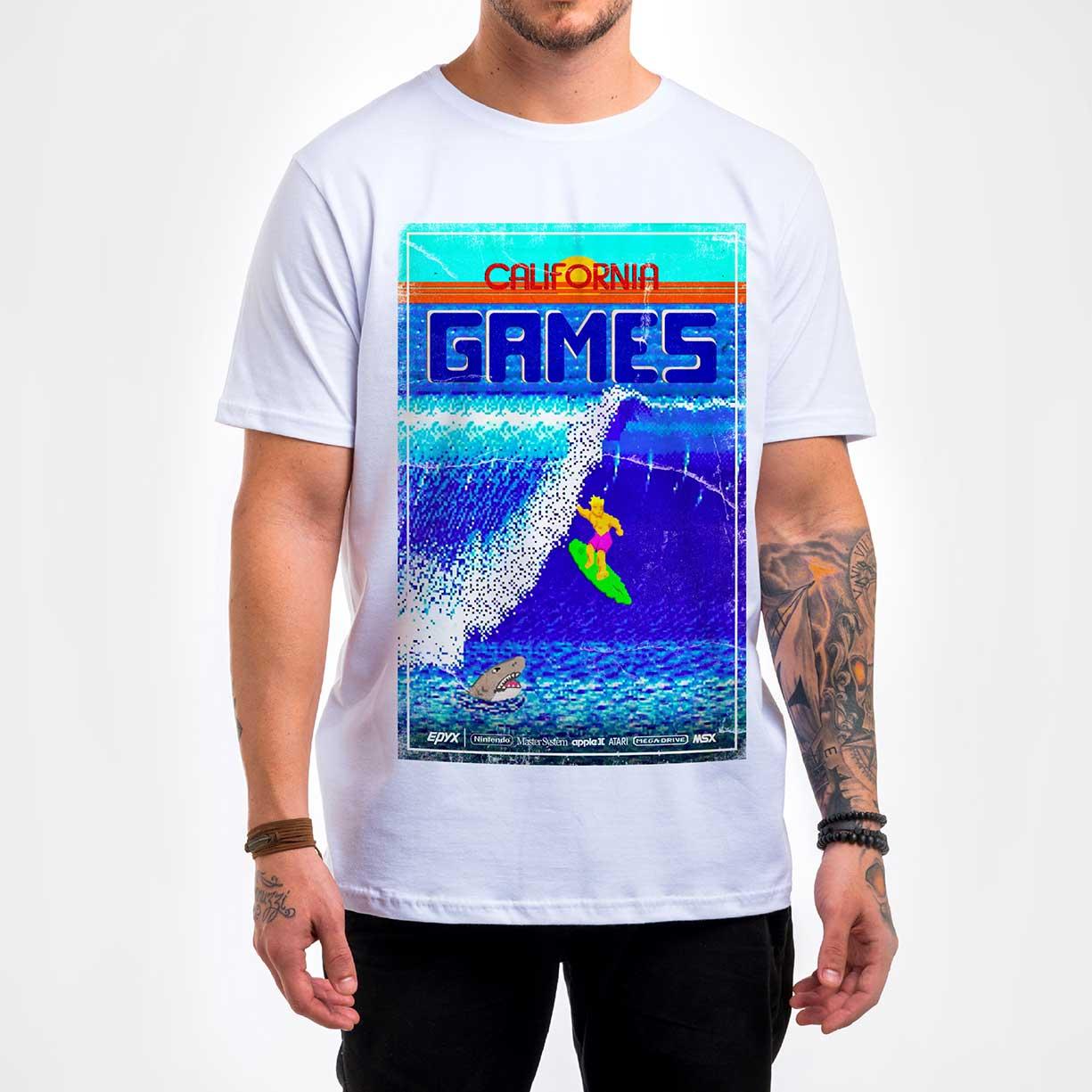 Camisa Masculina - Califórnia Games