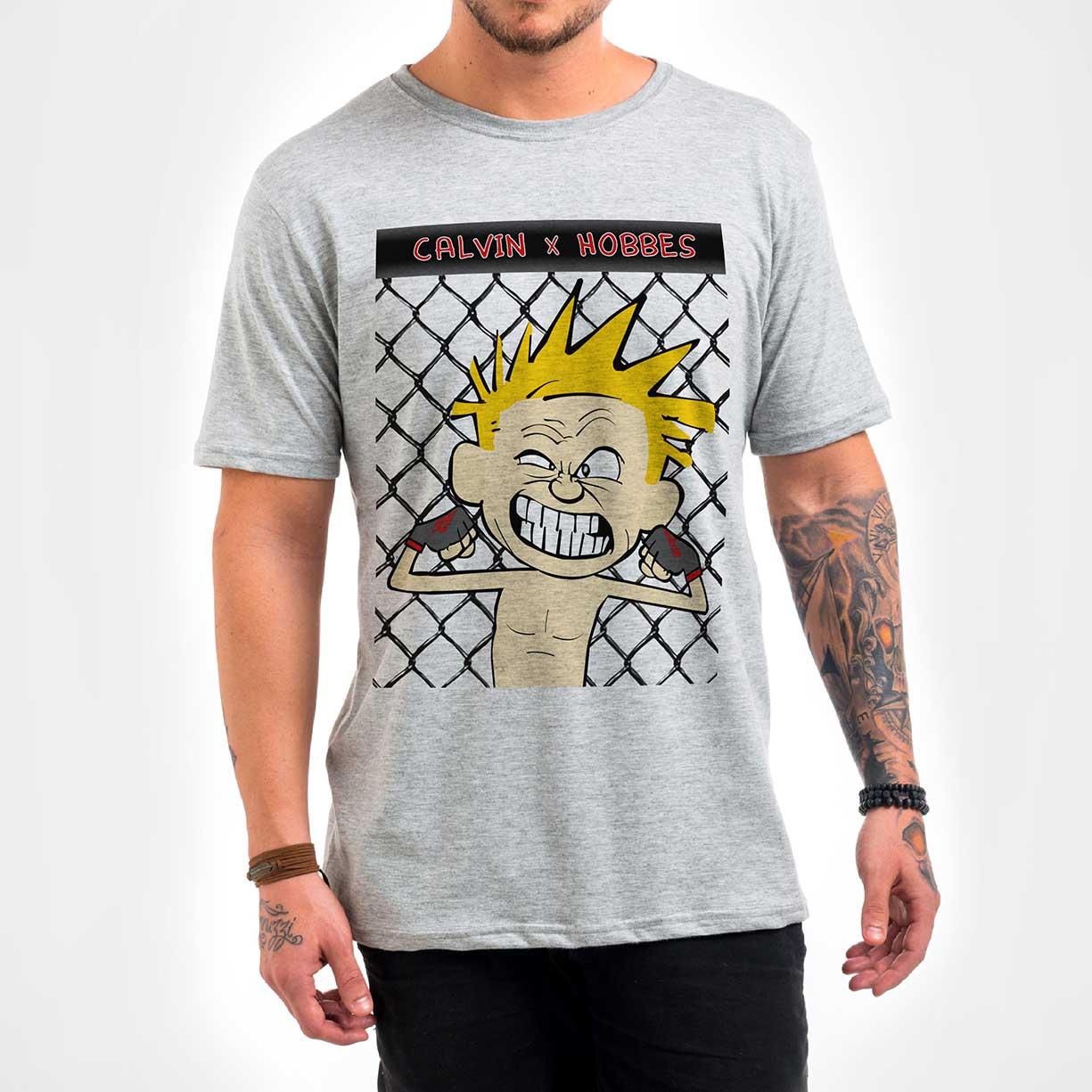 Camisa Masculina - Calvin x Hoobes