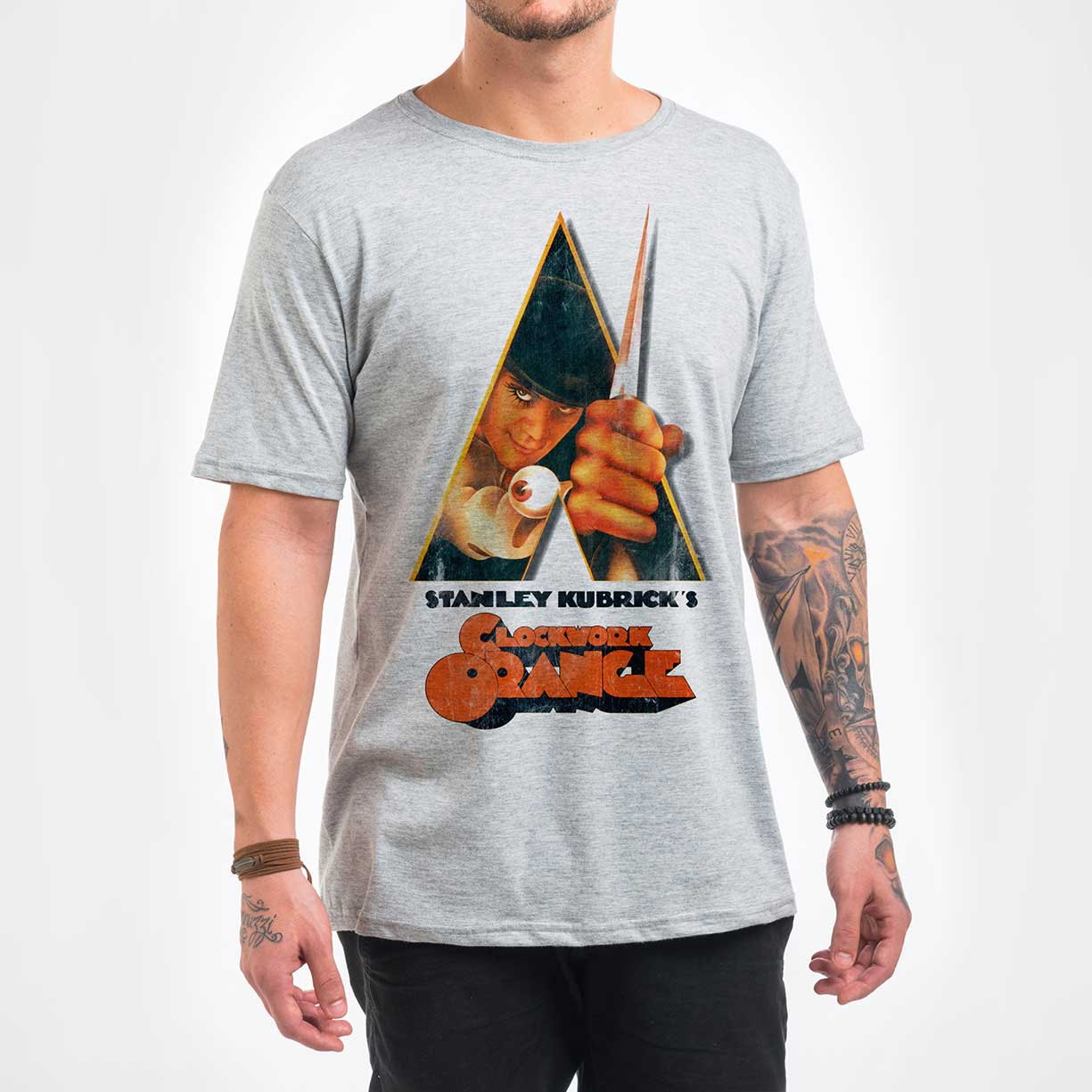 Camisa Masculina - Clock Orange