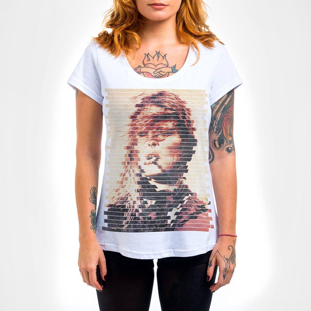 Camisa Feminina - Bardot Listras