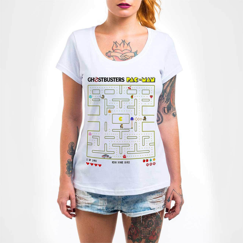 Camisa Feminina - Ghostbuster Pac-Man