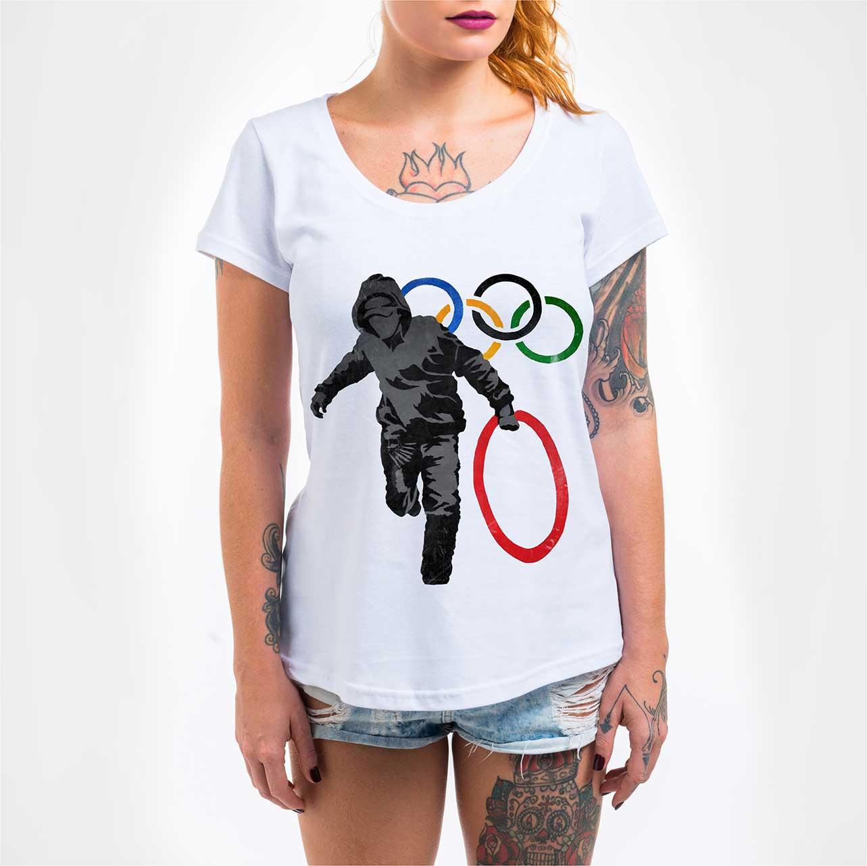 Camisa Feminina - Olympic Rings