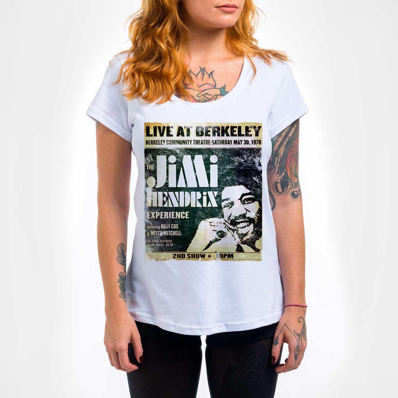 Camisa Feminina - Jimi Hendrix