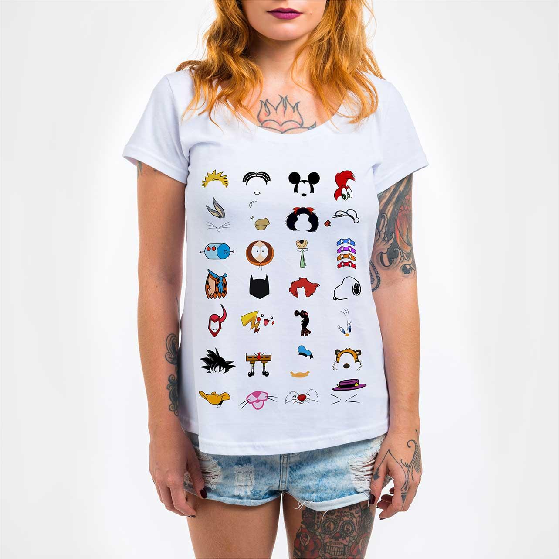 Camisa Feminina - Cartoons