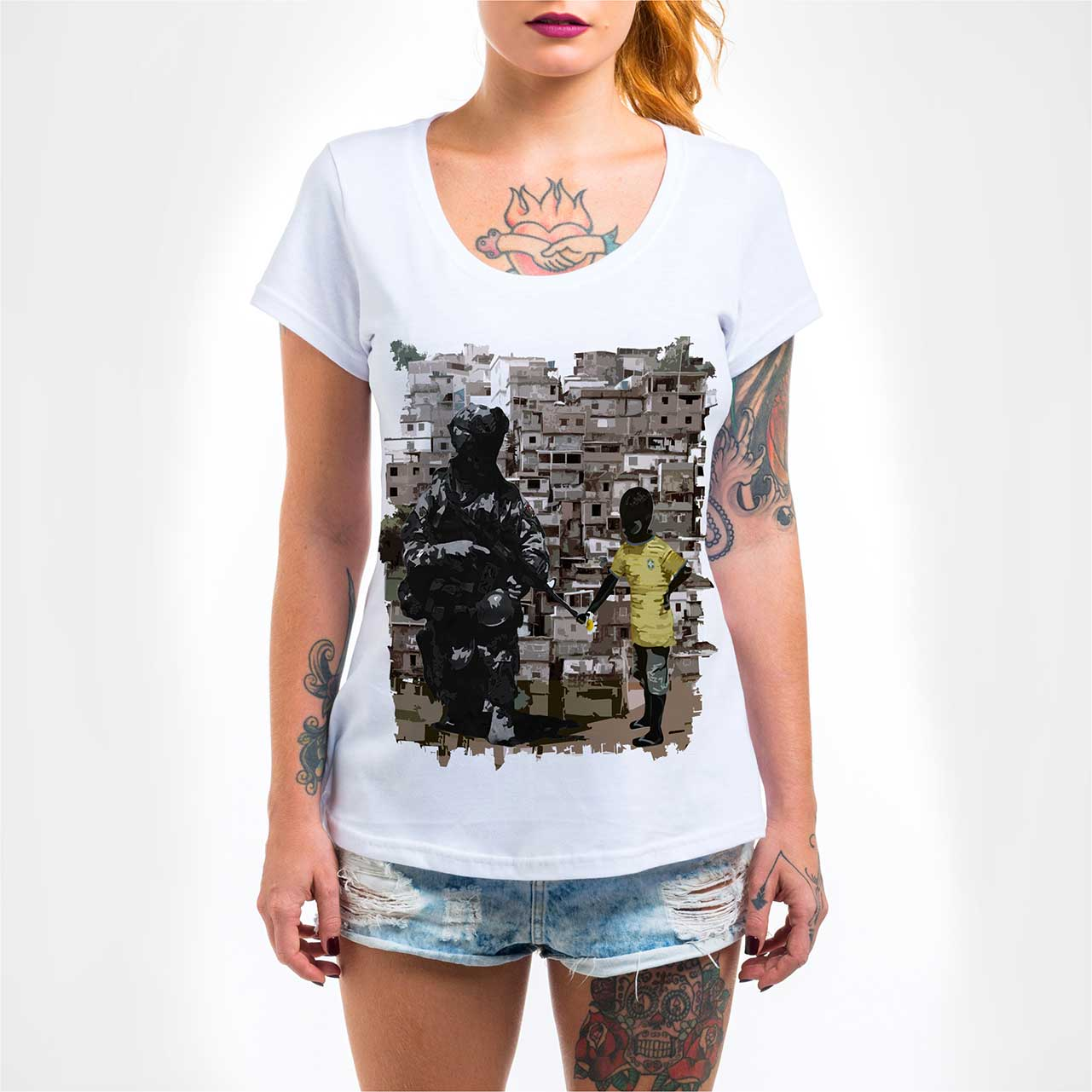 Camisa Feminina - Paz