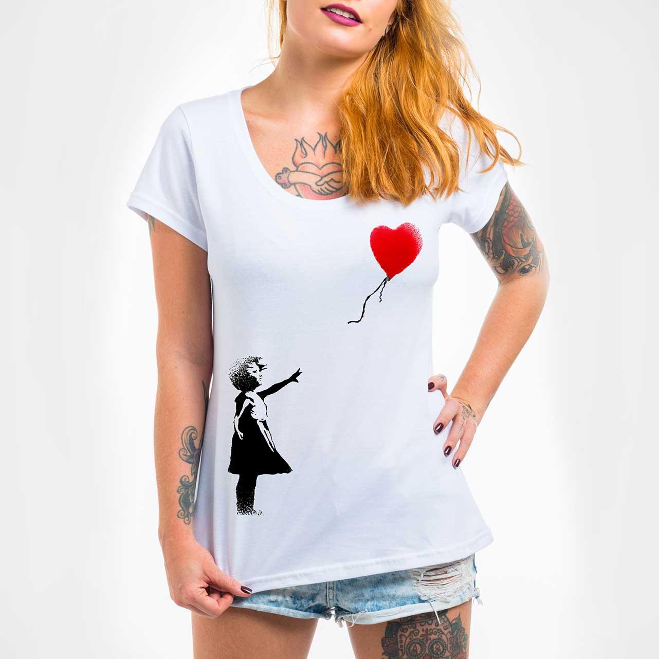 Camisa Feminina - Balloon Girl