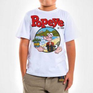 Camisa Infantil – Popeye in Rio Spinach