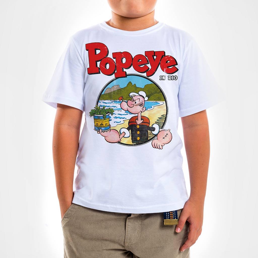 Camisa Infantil - Popeye in Rio Spinach