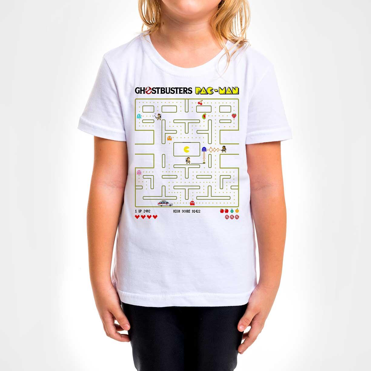 Camisa Infantil - Ghostbuster Pac-Man