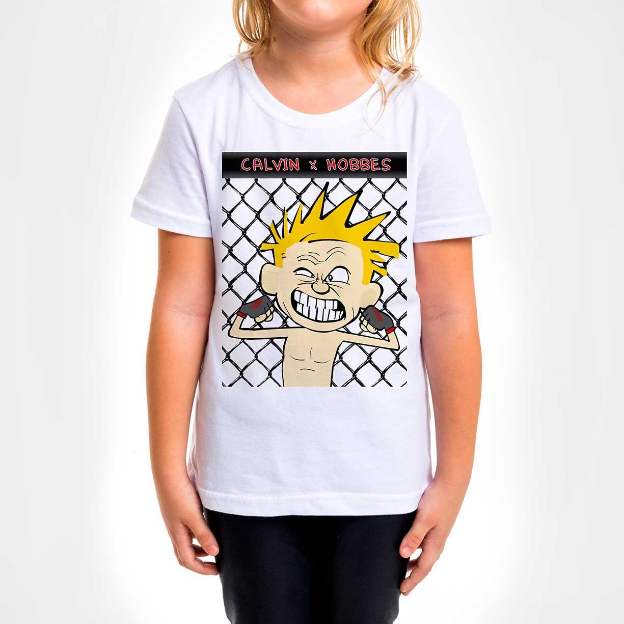 Camisa Infantil - Calvin x Hoobes