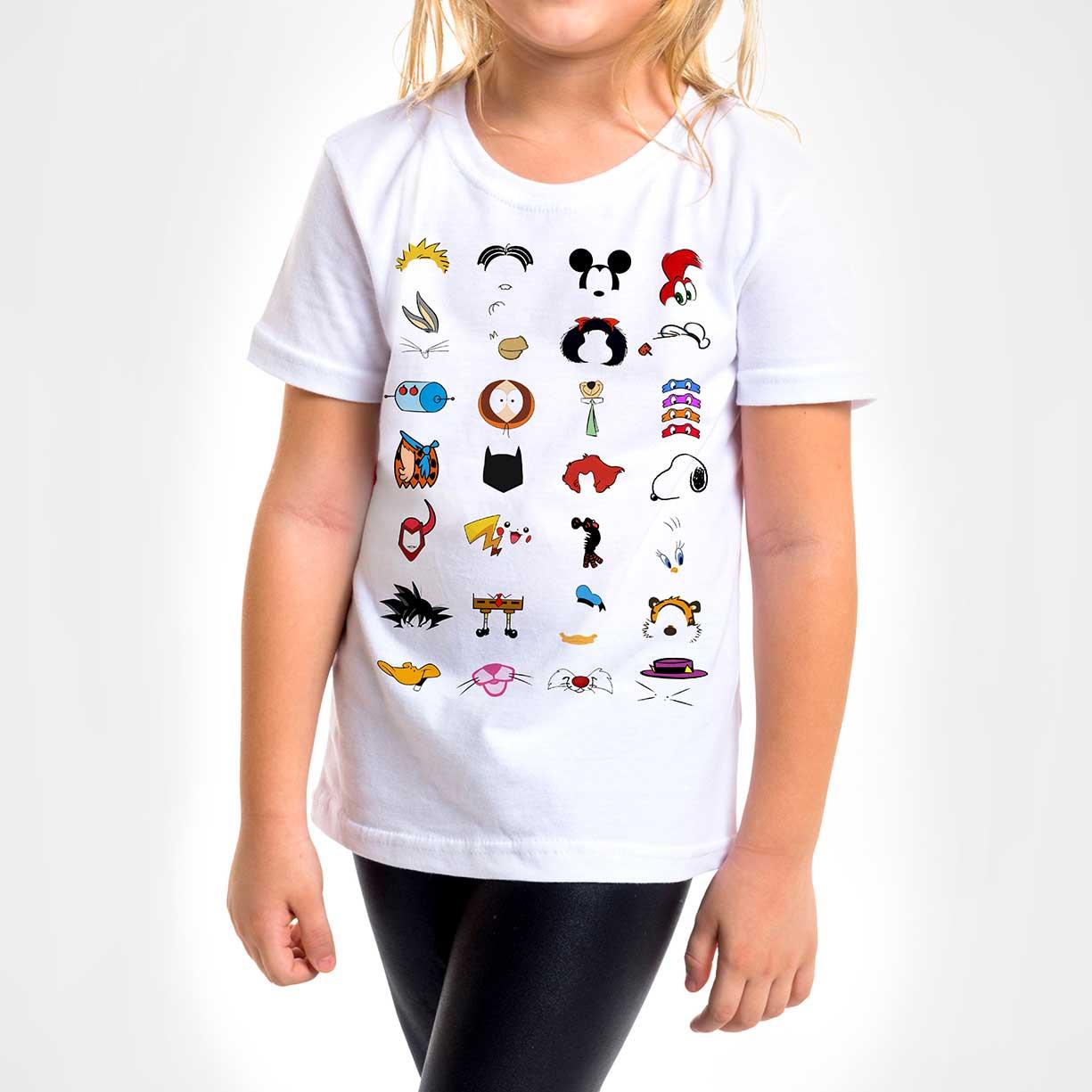 Camisa Infantil - Cartoons