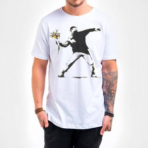 Camisa Masculina Branca – Flower Thrower