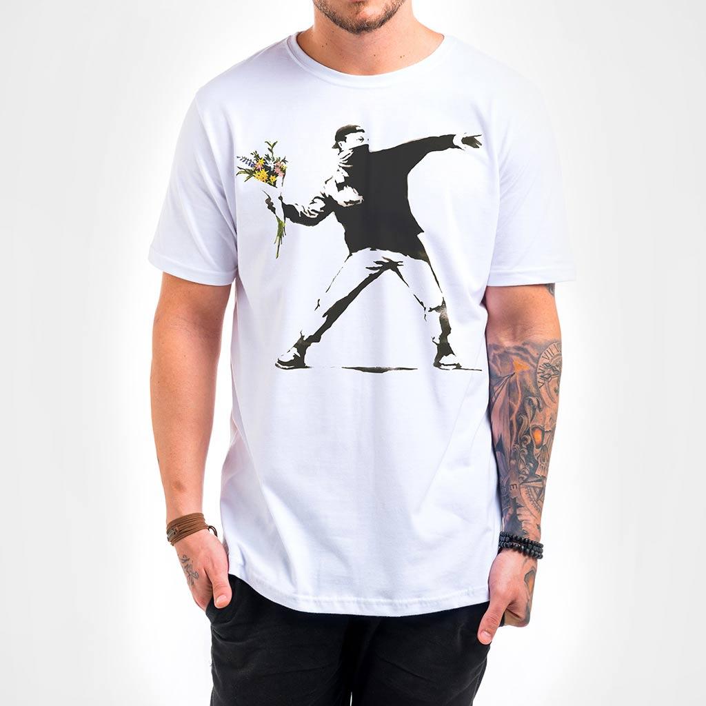 Camisa Masculina - Flower Thrower