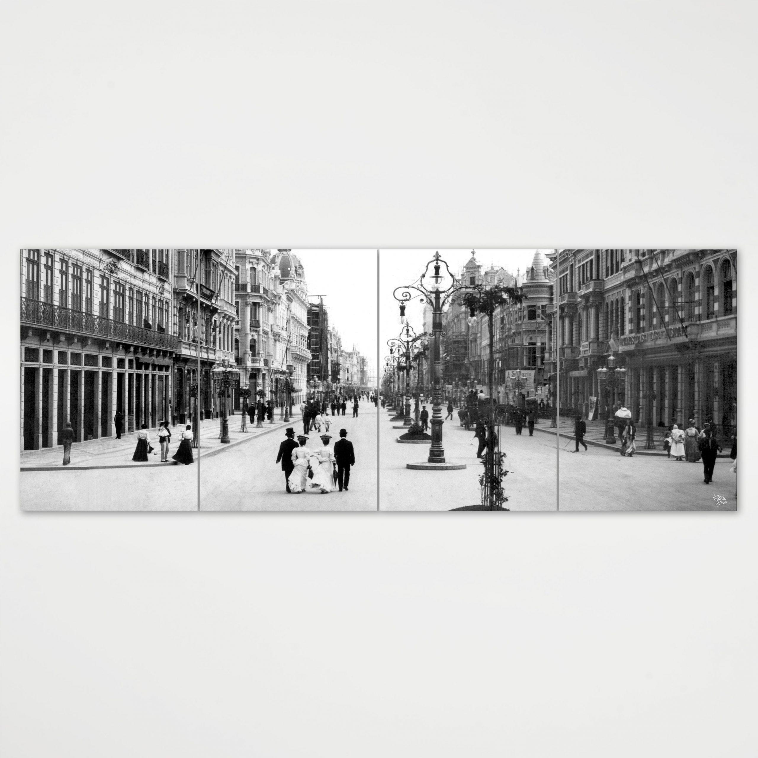 Painel Modular - Avenida Central - Ano 1905