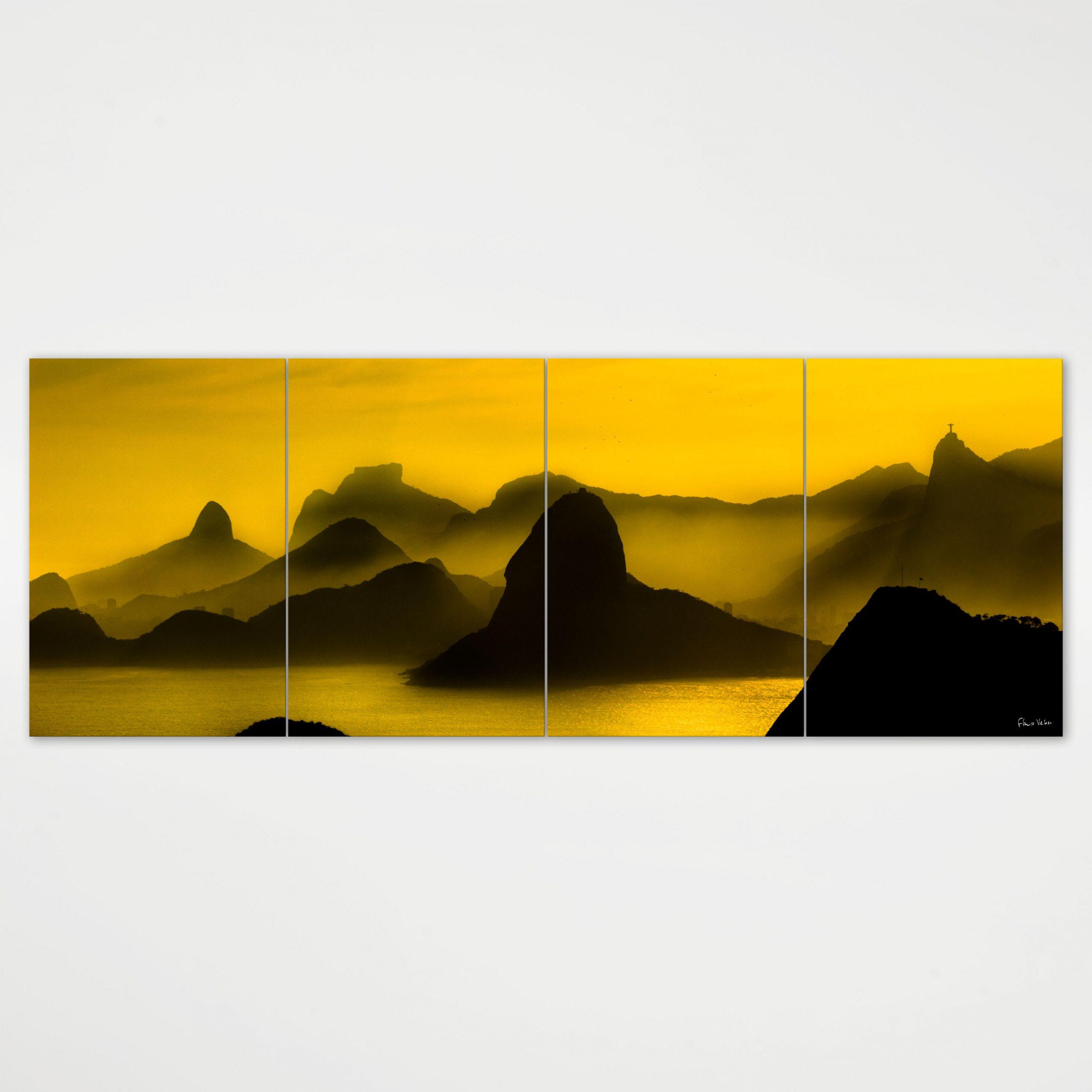 Painel Modular - O Poente na Espinha de suas Montanhas, Rio de Janeiro